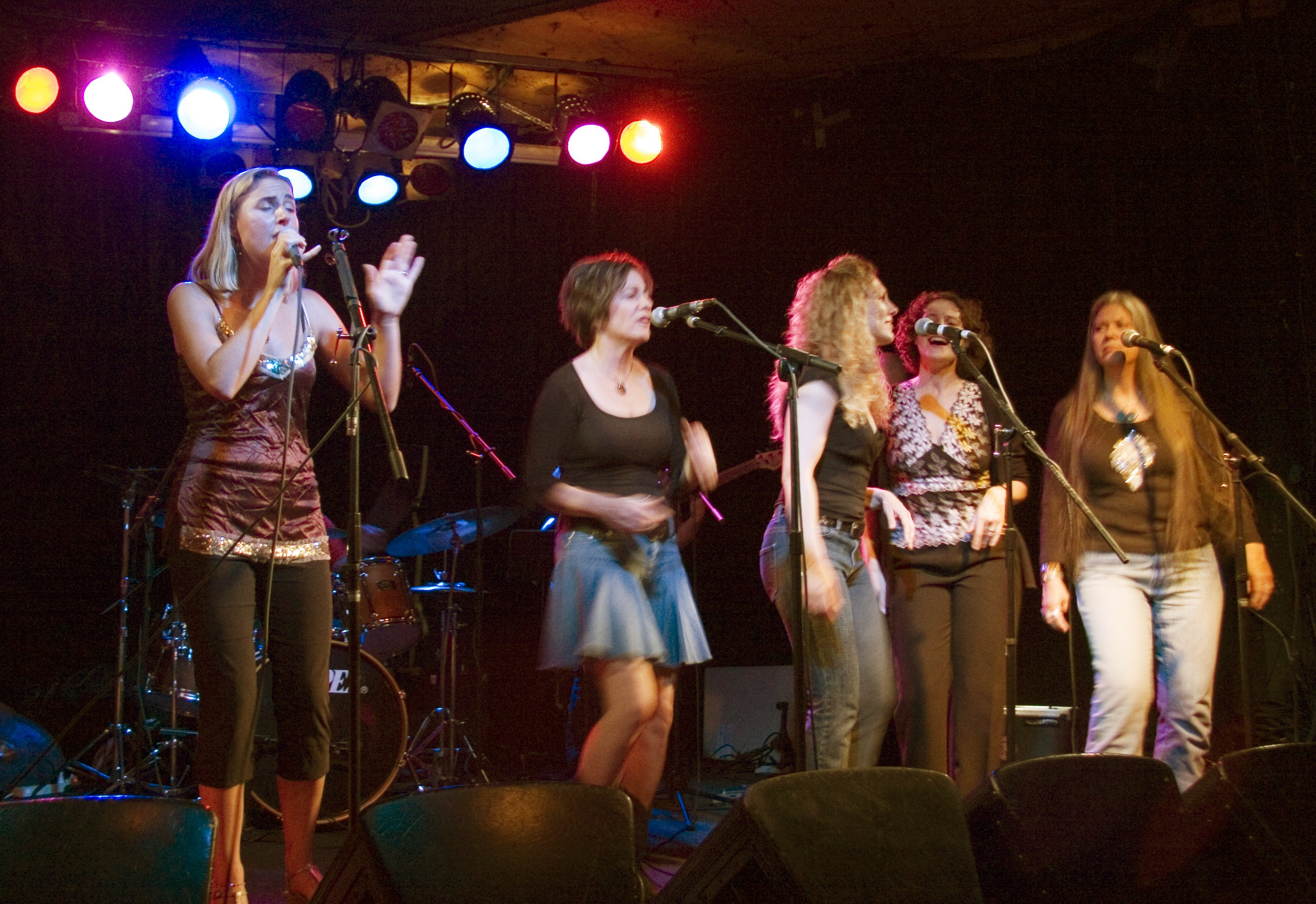 Eva Tree Sail Away CD Release, Photo by Ralph Widman, Crocodile Cafe, Seattle, WA, with MJ Bishop, Christy Taylor, Kathryn Mostow, Nancy K Dillon