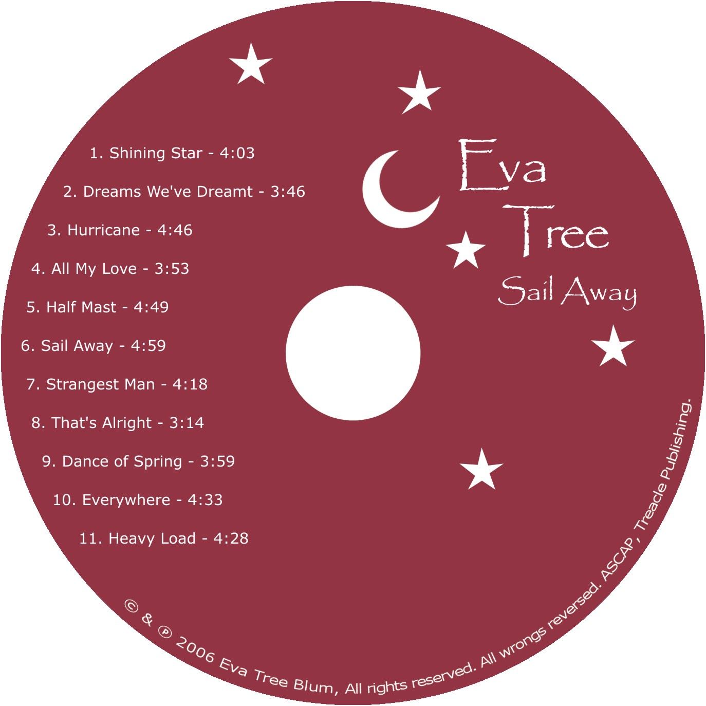Eva Tree - Sail Away - CD Diskface